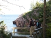 The seacoast trail at White Point just off the Cabot Trail in northern Cape Breton is one of the many Cape Breton hiking trails used in the 10-day 'Hike The Highlands' festival held each year in late summer